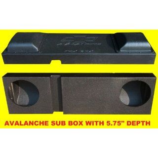 "Fox Acoustics 2002 up Dual 10"" Downfire Chevy Avalanche Escalade Sub Speaker Box  Vehicle Subwoofer Boxes"