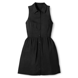 Merona Womens Woven Sleeveless Shirt Dress   Ebony   12