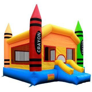 Commercial Grade Crayon Bounce House with Blower from Inflatable HQ Toys & Games