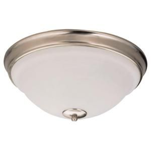 Sea Gull Lighting Serenity 3 Light Brushed Nickel Flush Mount Fixture 75190 962