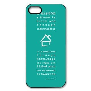 Custom Bible Verse Back Hard Cover Case for iPhone 5 5s I5 1056 Cell Phones & Accessories