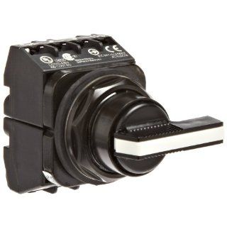 Siemens 52SW2CDBA2 Selector Switch Unit, Black Max Corrosion Resistant, 3 Positions, Momentary Spring Return From Left and Right Operation, Long Lever, C Cam Code, 2 NO + 2 NC Contact Blocks Electronic Component Selector Switches Industrial & Scienti