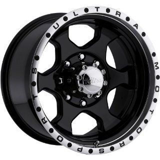 Ultra Rogue 18 Black Wheel / Rim 8x6.5 with a  25mm Offset and a 130 Hub Bore. Partnumber 175 8181B Automotive