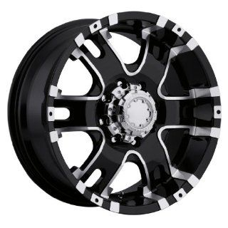 Ultra Baron 18 Black Wheel / Rim 8x6.5 with a 12mm Offset and a 125 Hub Bore. Partnumber 202 8982B Automotive