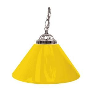 Trademark Global 14 in. Single Shade Yellow and Silver Hanging Lamp 1200S YEL