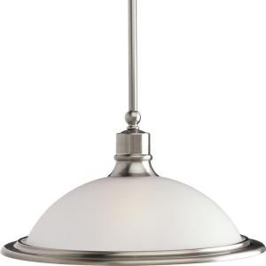 Progress Lighting Madison Collection 1 Light Brushed Nickel Pendant P5079 09