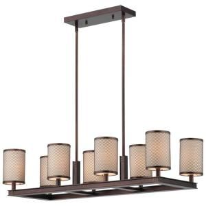 Philips Forecast I Beam 8 Light Hanging Merlot Bronze Chandelier DISCONTINUED F197270