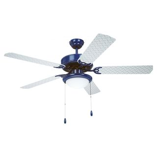 52 inch Blue and Silver 2 light Ceiling Fan Sea Gull Lighting Ceiling Fans