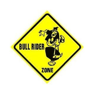 MECHANICAL BULL RIDER ZONE cowboy sign   Yard Signs
