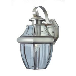 Filament Design Stewart 1 Light Brushed Nickel Outdoor Incandescent Wall Lantern CLI WUP6112260