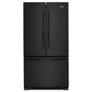 Whirlpool 33 in. W 21.7 cu. ft. French Door Refrigerator in Black WRF532SMBB