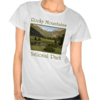 Early Spring Rocky Mountains National Park T shirts