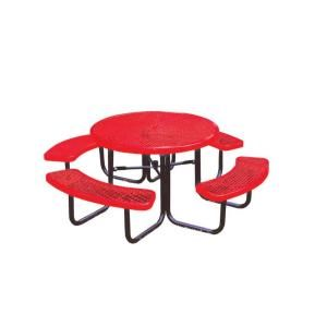 Ultra Play 46 in. Diamond Red Commercial Park Round Portable Table PBK358 RDVR