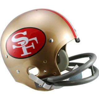 NFL Riddell San Francisco 49ers Gold 1964 1988 Throwback Suspension Full Size Helmet  Football Helmets  Sports & Outdoors