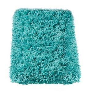 Home Decorators Collection Ultimate Shag Turquoise 9 ft. x 12 ft. Area Rug 3311480375