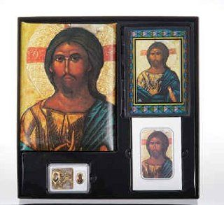 Monastery Jesus Spanish Cristo Series Memorial Package Includes Register Book, Book Mark, Crystal Rosary, Prayer Plaque, 50 Acknowledgement Cards, & 104 Memorial Prayer Cards Cromo Nb Artwork   Milan, Italy  Other Products