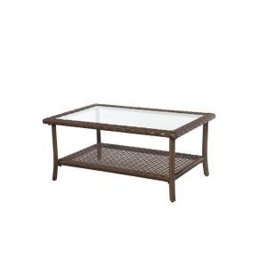 Hampton Bay Bloomfield Woven Patio Coffee Table 14H 039 40RCT