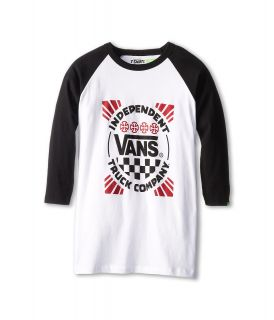 Vans Kids Indy Raglan Boys Long Sleeve Pullover (White)