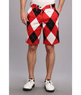 Loudmouth Golf Red White Black Short Mens Shorts (Red)