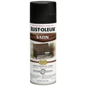 Rust Oleum Stops Rust 12 oz. Protective Enamel Satin Black Spray Paint (6 Pack) 7777830