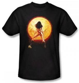 Vampirella Full Moon Black Adult Shirt VMP123 AT Clothing