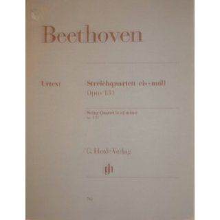 Beethoven String Quartet in C sharp Minor Opus 131 Urtext Ludwig van Beethoven Books