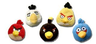 Angry Birds 5 Inch Set of 5 MINI Plush Blue, Black, Red, White Yellow Toys & Games