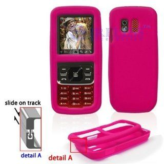 Samsung M540 RANT Trans. Hot Pink Silicon Skin Case  Office Supplies
