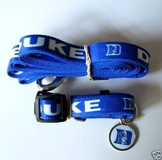 Duke University Blue Devils Pet Set Dog Leash Collar ID Tag LARGE Sports & Outdoors