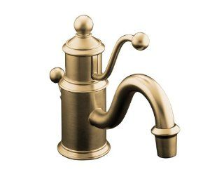 KOHLER K 139 BV Antique Single Hole Lavatory Faucet, Vibrant Brushed Bronze   Touch On Bathroom Sink Faucets