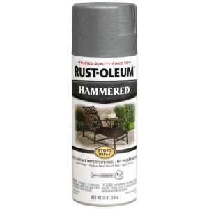 Rust Oleum Stops Rust 12 oz. Protective Enamel Hammered Gray Spray Paint (6 Pack) 7214830