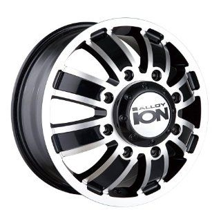 "Ion Alloy Dually 166 Matte Black Wheel with Machined Face (17x6.5""/8x210mm) Automotive"