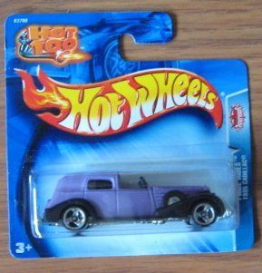 Hot Wheels 2004 Pride Rides 1935 Cadillac PURPLE 191 SHORT CARD Toys & Games