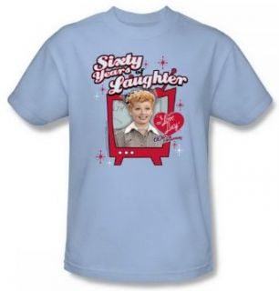 I Love Lucy Sixty Years Of Laughter Lt Blue Adult Shirt LB194 AT Clothing