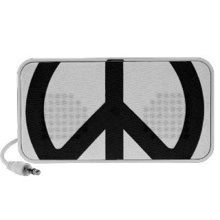 Classic Black and White Peace Sign Notebook Speaker