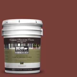 BEHR Premium Plus Ultra 5 gal. #PPU2 2 Red Pepper Semi Gloss Enamel Exterior Paint 585305