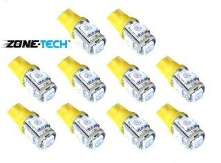 Zone Tech 10x 194 168 2825 5 smd YELLOW AMBER High Power SUPER BRIGHT LED Car Lights Bulb Automotive