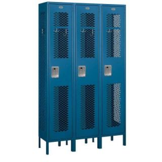 Salsbury Industries 81000 Series 45 in. W x 78 in. H x 15 in. D Single Tier Extra Wide Vented Metal Locker Assembled in Blue 81365BL A