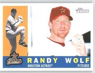 Randy Wolf   Houston Astros   2009 Topps Heritage Card # 209   MLB Trading Card Sports Collectibles