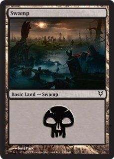 Magic the Gathering   Swamp (238)   Avacyn Restored Toys & Games
