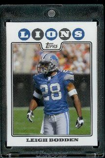 2008 Topps # 252 Leigh Bodden   Detroit Lions   NFL Trading Cards in a Protective Display Case Sports Collectibles