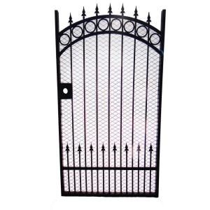 Trento 43 in. x 72 in. Single Walk Through Metal Black Gate TRGG 124 Mesh
