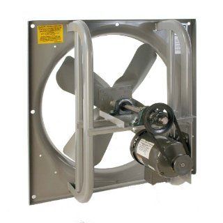 "Airmaster 42711 High Pressure Belt Drive Fan, Single Speed, Totally Enclosed, 3 Phase, 36"" Prop Diameter, 230/460V, 1HP Motor"