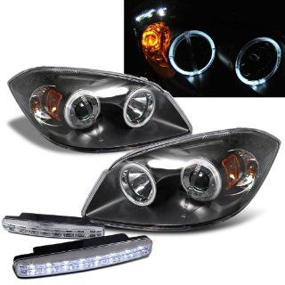 2005 2010 Chevy Cobalt Dual Halo Projector Headlights + 8 Led Fog Bumper Light Automotive