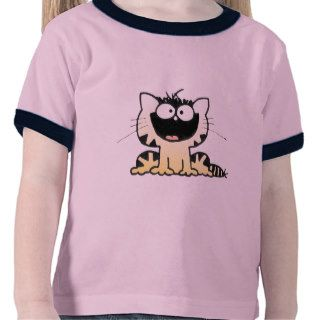 Cute Kitty  Happy Kitty  Cute Cartoon Kitty Tee Shirts