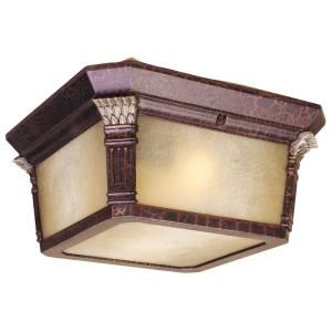 Hampton Bay Flush Mount 2 Light Outdoor Augustain Bronze Lantern DISCONTINUED HD161401