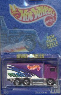Hot Wheels 1991 238 HIWAY HAULER NEW PAINT STYLE purple DELIVERY 164 Scale Die cast Collectible Car Toys & Games