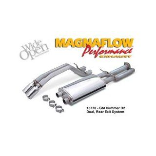 Magnaflow Exhaust System   , . DODGE DAKOTA (Short Bed;Extended Cab) (V6; 3.7; GAS) 5 x 8 x 18 in. Muffler; 3 in. Tubing; Side Exit; 3.5 in. Tip; Mandrel Bent; 2004   2004 Automotive