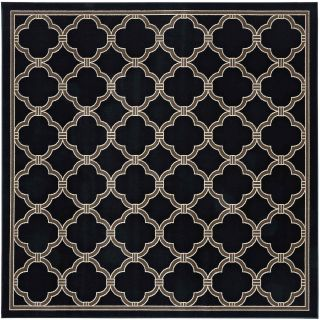 Mohawk Home Parsonage Indoor/Outdoor Square Rug, Black