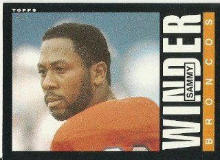 1985 Topps Sammy Winder (Denver Broncos) Football Trading Card #247